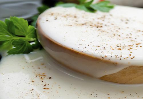 Sodium-reduced Bechamel sauce