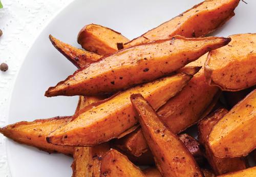Sodium-reduced baked sweet potatoes